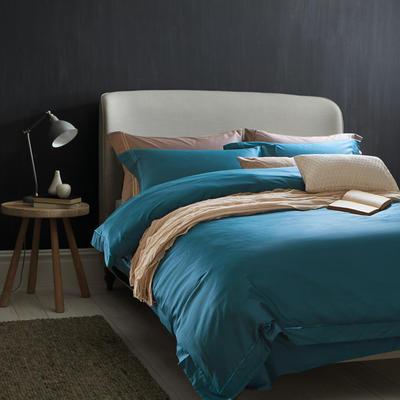 60素绣 hotel系列四件套 标准 蔚蓝
