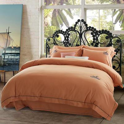 北美绒四件套 标准(1.5m床-1.8m床) 格瑞丝-橙