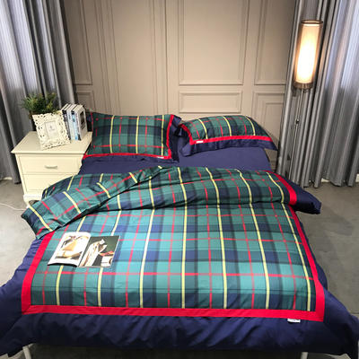 60北美棉拼接工艺款系列四件套--经典苏格兰 1.5m/1.8m床 经典苏格兰