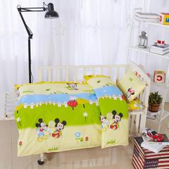 全棉卡通儿童套件不加棉(两小无猜) 110*150 丝棉芯六件套:被芯(1.5斤)+被套+床