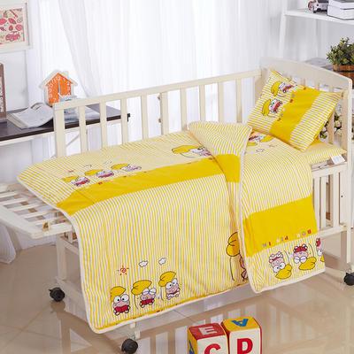全棉卡通儿童套件夹棉(青蛙王子) 110*150 棉花芯六件套:被芯(2斤)