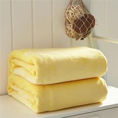 毛毯毯子320克纯色金貂绒毛毯-加导电丝 100*120cm 鹅黄色