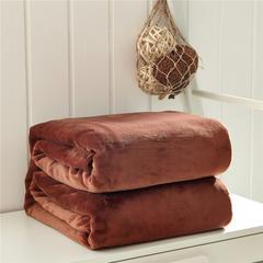 毛毯毯子320克纯色金貂绒毛毯-加导电丝 100*120cm 咖啡色