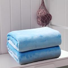 毛毯毯子320克纯色金貂绒毛毯-加导电丝 100*120cm 蓝色