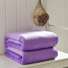 毛毯毯子320克纯色金貂绒毛毯-加导电丝 100*120cm 青莲紫