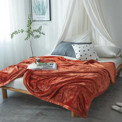 毛毯毯子400克云貂绒来菲家纺家纺纯色珊瑚绒素色法莱绒 150*230cm 太妃陶土棕