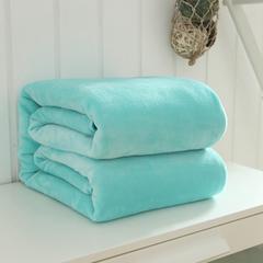 毛毯毯子320克纯色金貂绒毛毯-加导电丝 100*120cm 蒂芙尼蓝