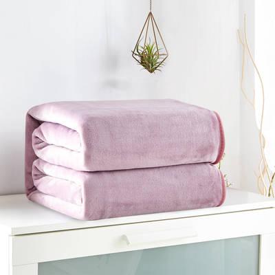 2018新款来菲毯业320克金貂绒毛毯纯色加厚法莱绒毯子素色盖毯 100*120cm 豆沙