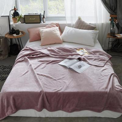 320克金貂绒纯色毛毯20新款加厚毯子沙发毯保暖毯子素色来菲经典款 120*200 豆沙