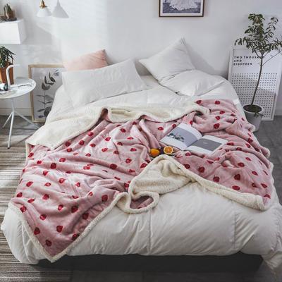 2019新款复合印花羊羔绒双层毛毯加厚秋冬毯子可铺可盖多功能 100*120cm 柏瑞