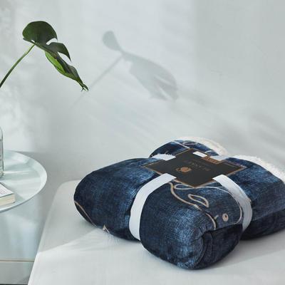 来菲毯业双层复合印花羊羔绒加厚冬季外贸保暖珊瑚绒毛毯法兰绒毯子 150*200CM 维尔