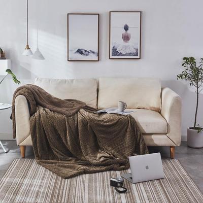 来菲毛毯2019新品加厚双层秋冬绒毯保暖毯子纯色铺盖沙发床用多功能 100*120cm 童绿