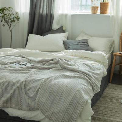 来菲外贸触控剪花奢华毛毯提花纯色毯子加厚出口保暖毛毯多功能毯子 150cmx200cm 麻花