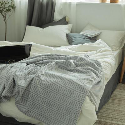 来菲外贸触控剪花奢华毛毯提花纯色毯子加厚出口保暖毛毯多功能毯子 200cmx230cm 山陵