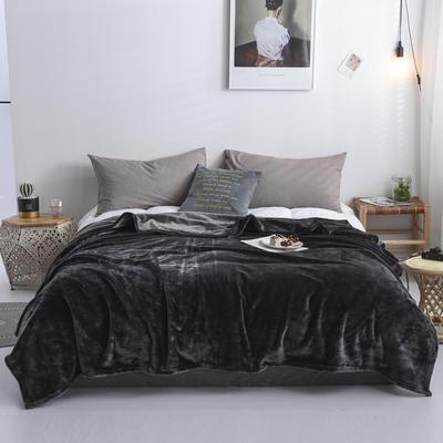 来菲2019新款科技暖绒500系列毛毯加厚纯色外贸出口奢华绒毯多功能 1.0*1.5米 狼堡灰