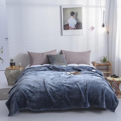 来菲2019新款科技暖绒500系列毛毯加厚纯色外贸出口奢华绒毯多功能 1.0*1.5米 深海蓝
