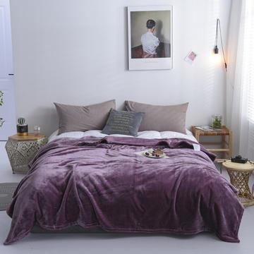 来菲20新款科技暖绒500系列毛毯加厚纯色外贸出口奢华绒毯多功能毯子