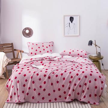 活动款新款270克云貂绒毛毯印花卡通绒毯多规格盖毯可搭配枕套