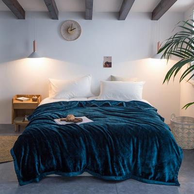 来菲毛毯2019新款紫貂绒加厚保暖毯子400克重外贸批发绒毯纯色盖毯爆款 150cmx230cm 明成釉彩绿
