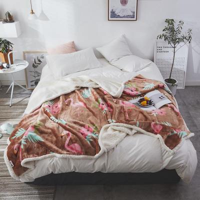 2019新款特惠价格系列复合印花羊羔绒毯-佛明哥 100*120cm 佛明哥