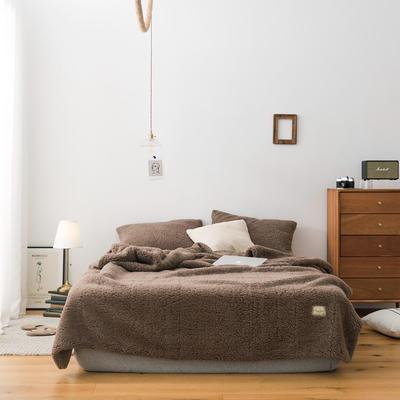 2019新款双面羊羔绒毛毯 150cmx200cm 咖啡色