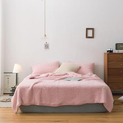 2019新款双面羊羔绒毛毯 150cmx200cm 嫩粉色