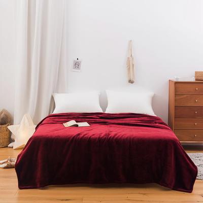 2020新款科技暖绒500克毛毯 100*150cm 杰斯红