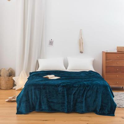 2020新款科技暖绒500克毛毯 100*150cm 孔雀绿