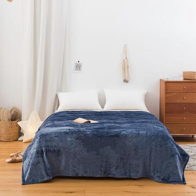 2020新款科技暖绒500克毛毯 100*150cm 深海蓝
