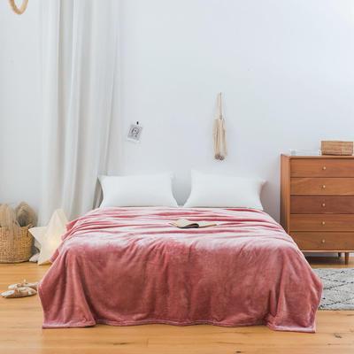 2020新款科技暖绒500克毛毯 100*150cm 西柚粉