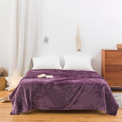 2020新款科技暖绒500克毛毯 100*150cm 云英紫