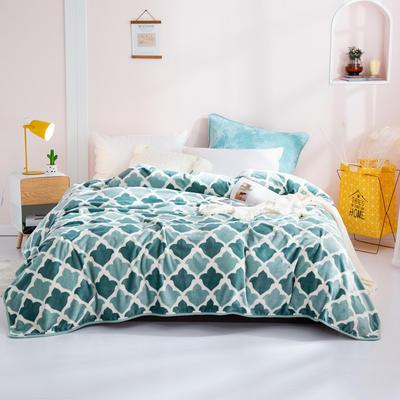 2020新款印花法莱绒毛毯 120*200cm(包边) 菠萝