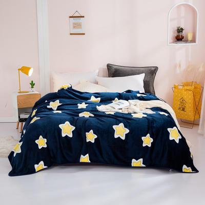 2020新款印花法莱绒毛毯 120*200cm(包边) 星星