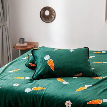 2020新款印花法莱绒单枕套