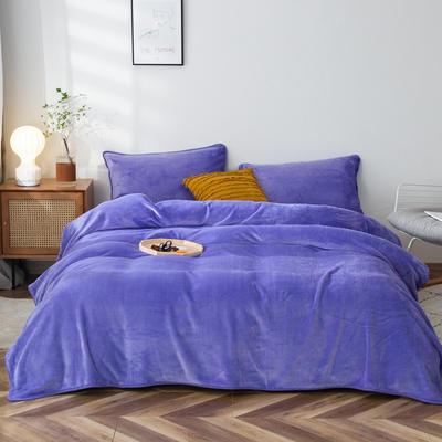 2020新款320克金貂绒亲肤盖毯 100*120cm(卷边) 深紫色