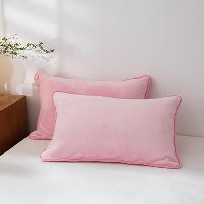 2020新款320克金貂绒亲肤单枕套 48cmX74cm//只 粉色