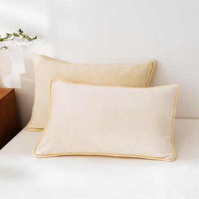 2020新款320克金貂绒亲肤单枕套 48cmX74cm//只 米白色