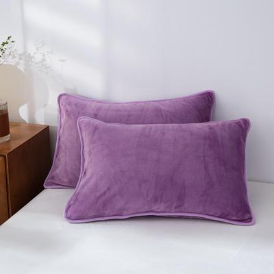 2020新款320克金貂绒亲肤单枕套 48cmX74cm//只 浅紫色