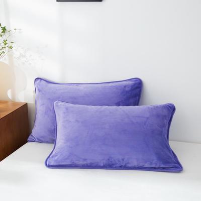 2020新款320克金貂绒亲肤单枕套 48cmX74cm//只 深紫色
