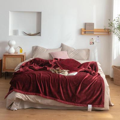 2020新款紫貂绒毛毯 150cmx230cm 波多黎各红