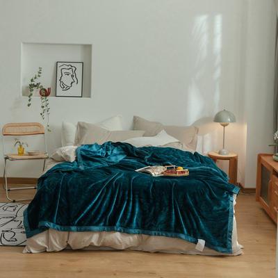 2020新款紫貂绒毛毯 200cmx230cm 明成釉彩绿