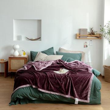 2020新款紫貂绒毛毯