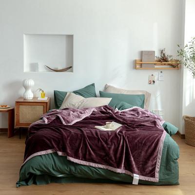 2020新款紫貂绒毛毯 150cmx230cm 苜蓿天青紫