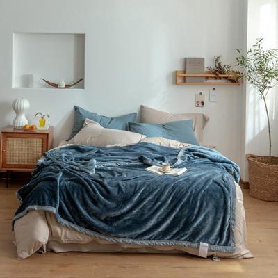 2020新款紫貂绒毛毯 200cmx230cm 尼亚加拉蓝