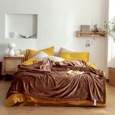 2020新款紫貂绒毛毯 200cmx230cm 圣地亚哥咖