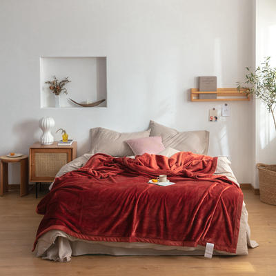 2020新款紫貂绒毛毯 150cmx230cm 太妃陶土棕
