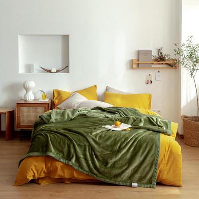 2020新款紫貂绒毛毯 150cmx230cm 羽衣甘蓝绿