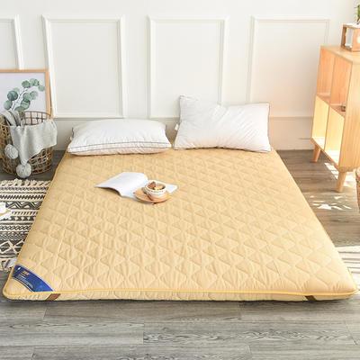2017新款纯色加厚榻榻米床垫 1.2*2.0 黄色