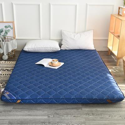 2017新款纯色加厚榻榻米床垫 1.2*2.0 蓝色