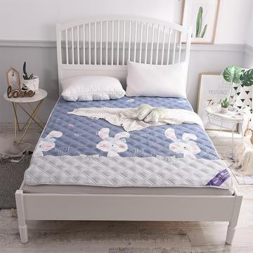2018新款水洗棉床护垫床垫垫子 0.9*2.0 萌萌兔